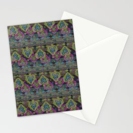 Persian Carpet  Black Distressed 2 Stationery Cards