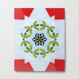 Oak Leaf Kaleidoscope Metal Print