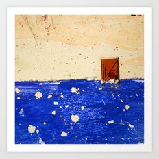 A Sinking Ship Forgets Her Shape Art Print
