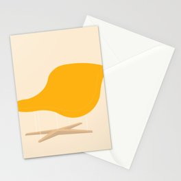 Yellow La Chaise Chair by Charles & Ray Eames Stationery Cards