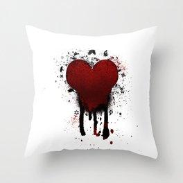 Corazon Transgotico Throw Pillow