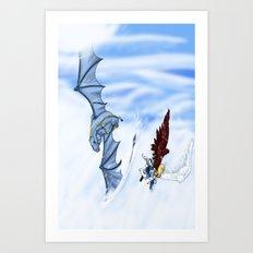 Flying With you Art Print