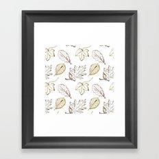Leaves (browns) Framed Art Print