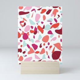 Terrazzo in Coral Mini Art Print