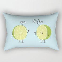 lime cordial Rectangular Pillow