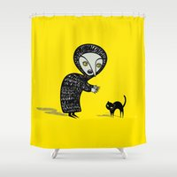 witch Shower Curtains featuring Witch by Viva la!