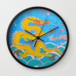 two imperial dragons Wall Clock