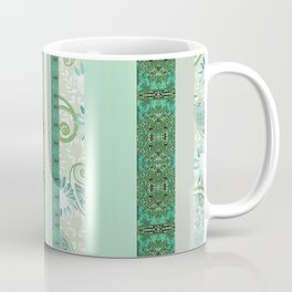 French Stripe Green/Grey Coffee Mug