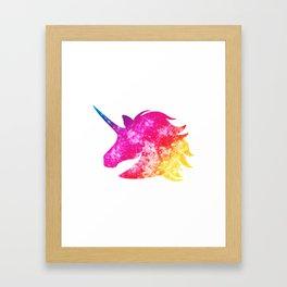 Sparkles the Unicorn Framed Art Print