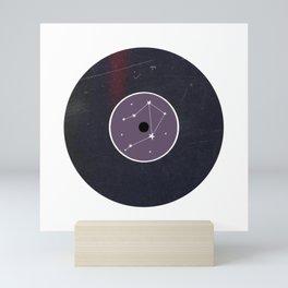 Vinyl Record Star Sign Art | Libra Mini Art Print