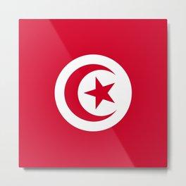 Tunisia flag emblem Metal Print