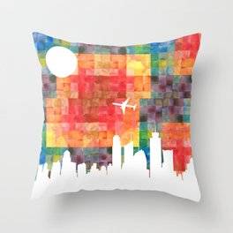 Goodbye Blue Sky Throw Pillow