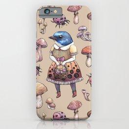 Mushroom Pickers - Lady Blue iPhone Case