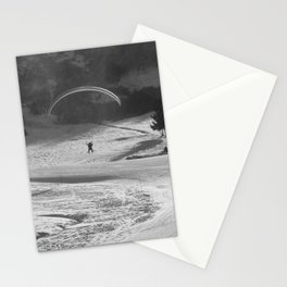 Paragliding in the mountains, Les Arcs Stationery Cards