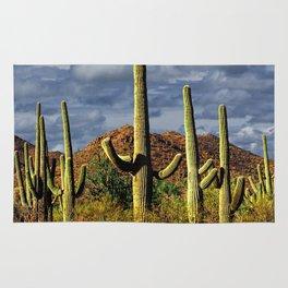 Saguaro Cactuses in Arizona's Saguaro National Park Rug
