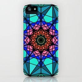 Abstract oriental fractal mandala iPhone Case
