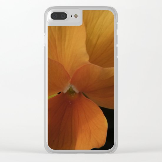 orange pansy Clear iPhone Case