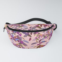 Beautyberry on Pink Fanny Pack