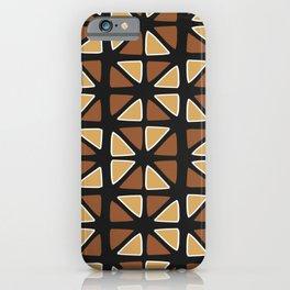 African mud cloth random triangles iPhone Case