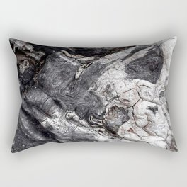 Marbled Wood - Photography by Fluid Nature Rectangular Pillow