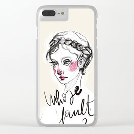 Whose fault Clear iPhone Case