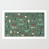 insects Art Prints featuring Insects by Kiana
