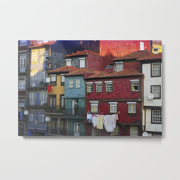 Colorful houses. Porto, Portugal. Metal Print