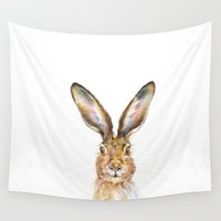 hare Wall Tapestries featuring HARE by Patrizia Ambrosini