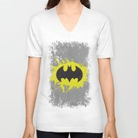 bat man V-neck T-shirts featuring Bat Man by Some_Designs