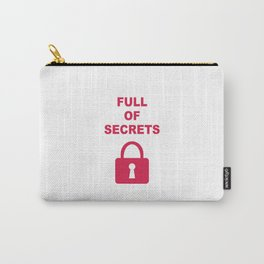 Full of Secrets Lock Carry-All Pouch
