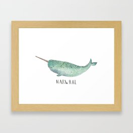 Cute Narwhal Framed Art Print