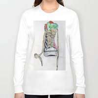 sneaker Long Sleeve T-shirts featuring Sneaker by H & J