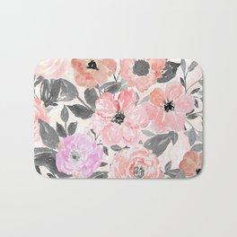 Elegant simple watercolor floral Bath Mat