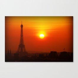 Red Paris Canvas Print