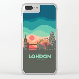 Vintage Travel: London Clear iPhone Case
