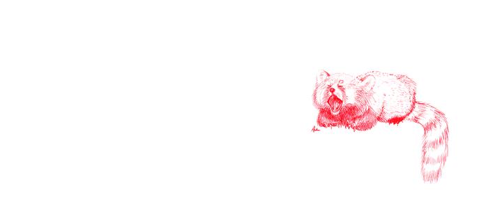 Red Panda Yawning Coffee Mug