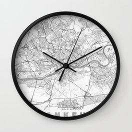Frankfurt Map Line Wall Clock