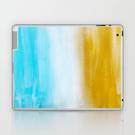 Aqua & Gold Abstract Laptop & iPad Skin