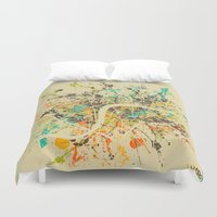london map Duvet Covers featuring LONDON MAP by Nicksman