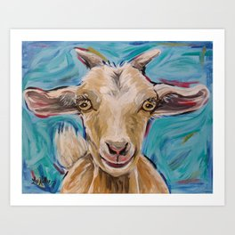 Goat Art, 'Buttercup' Goat Painting Art Print