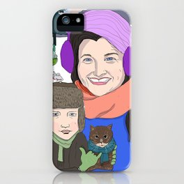Dina and Dylan in Ithaca iPhone Case
