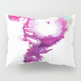 Happiness Now Abstract Watercolor Painting Pillow Sham