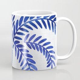 Cobalt Silhouette - Blue Palm Coffee Mug