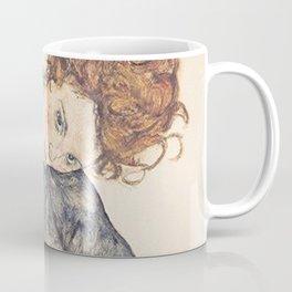 SEATED WOMAN WITH BENT KNEE - EGON SCHIELE Coffee Mug