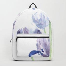 Watercolor iris print Backpack