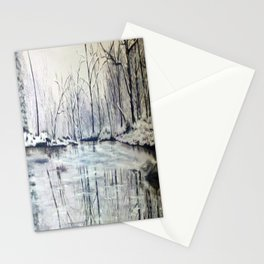 Snowy Lake Stationery Cards