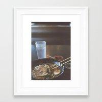 ramen Framed Art Prints featuring Ramen  by Warren Silveira + Stay Rustic