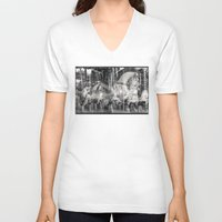 carousel V-neck T-shirts featuring Carousel by Ibbanez