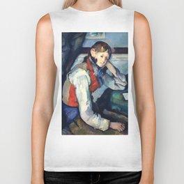 """Paul Cezanne """"Boy in a Red Vest"""" Biker Tank"""