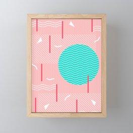 Memphis Summer Splash Framed Mini Art Print